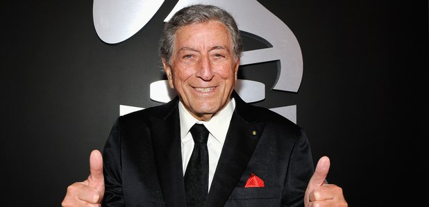 Tony Bennett on the red carpet at the Grammy Award