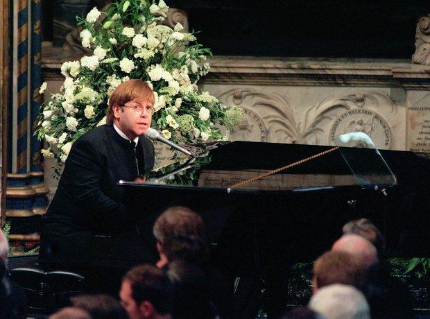 Elton John Princess Diana Funeral