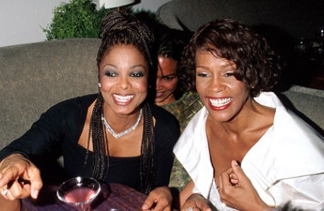 Janet Jackson and Whitney Houston