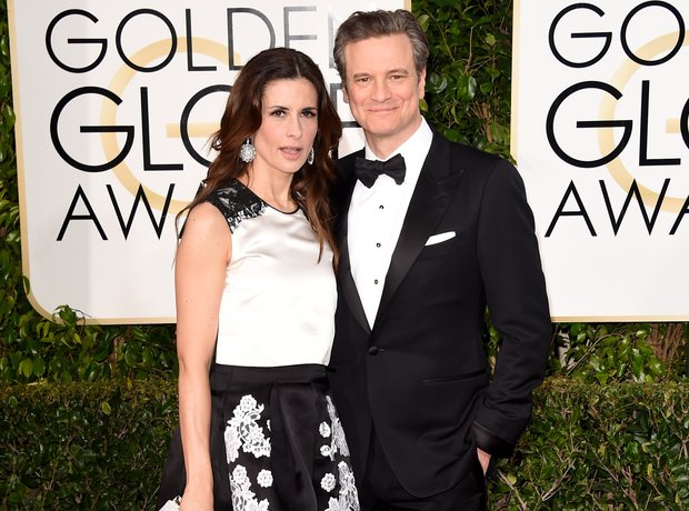 Golden Globes 2015 Livia and Colin Firth