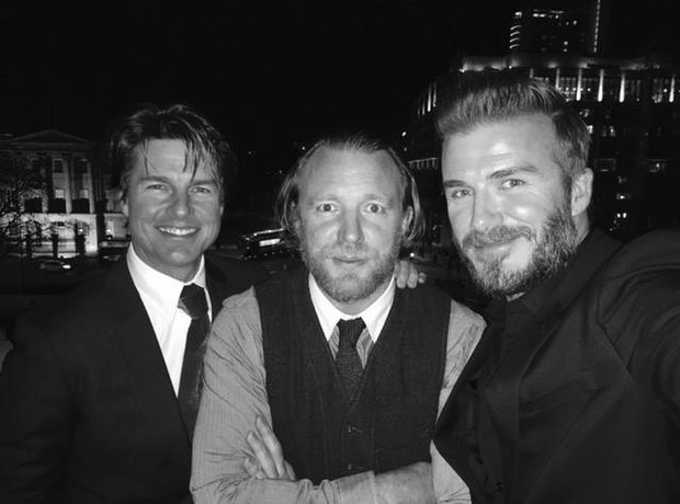 David Beckham, Tom Cruise and Guy Ritchie