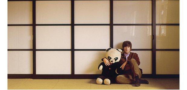 John Lennon with panda