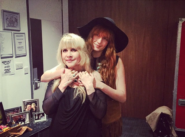 Florence Welch with Stevie Nicks