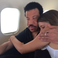 Image 5: Lionel Richie and daughter on a plane
