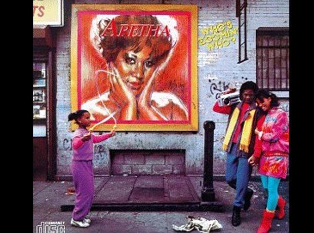 Aretha Franklin 80s album covers