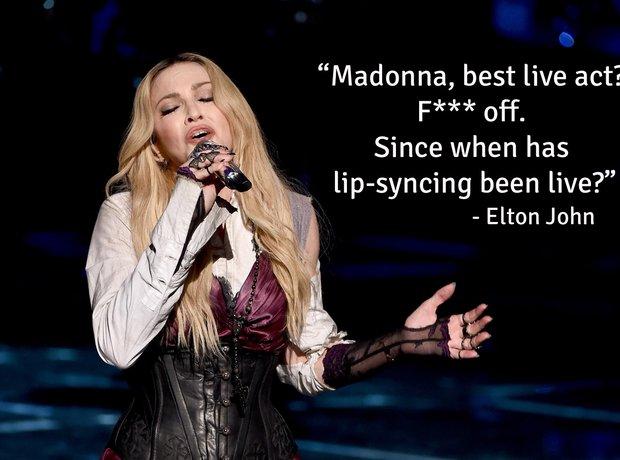 famous star insults elton john madonna