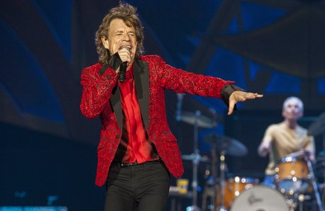 Mick Jagger performing in 2015