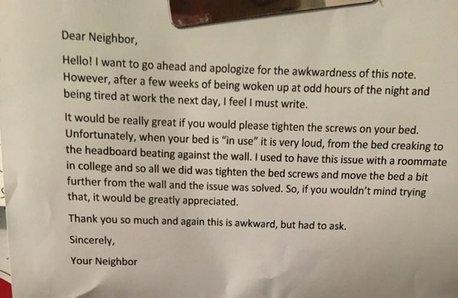 Reddit neighbour note