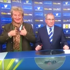 Rod Stewart at the Scottish Cup draw